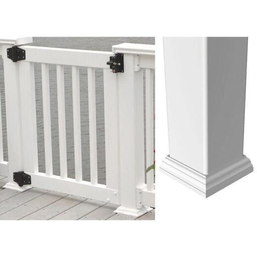 RDI Crossover Product 4 In. x 4 In. White Vinyl New England Post Base Trim Ring