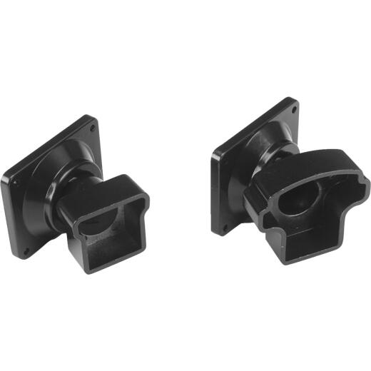 Gilpin Summit Black Powder Coated Aluminum Railing Swivel Fitting (2-Pack)