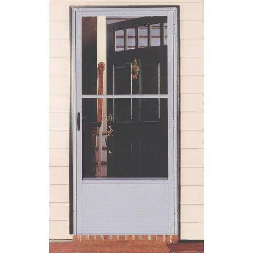 Croft Imperial Style 36 In. W. x 80 In. H. x 1-7/8 In. Thick Bronze Self-Storing Aluminum Storm Door