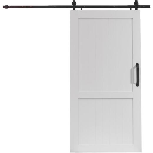 Millbrooke 42 In. x 84 In. x 1.3 In. H-Style White PVC Barn Door Kit