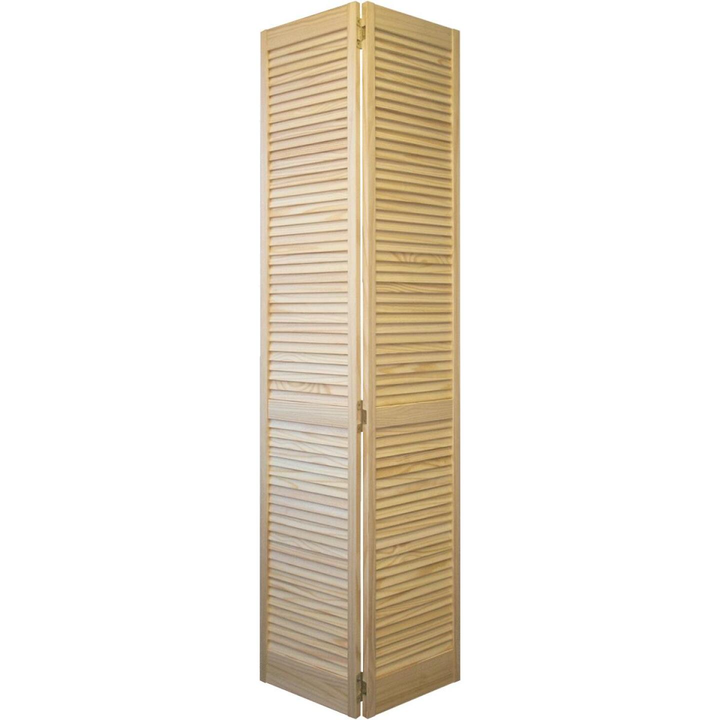 Jeld Wen 30 In. W. x 80 In. H. Pine Louver/Louver Natural Color Bifold Door Image 1