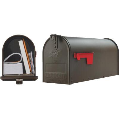 Gibraltar Elite T1 Bronze Steel Rural Post Mount Mailbox