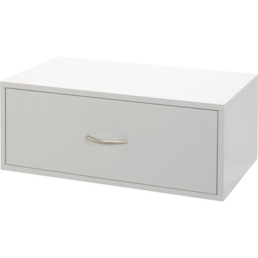 FreedomRail Double Hung 1-Drawer White Organization Box