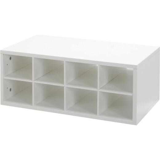 FreedomRail Double Hung Cubby White Organization Box
