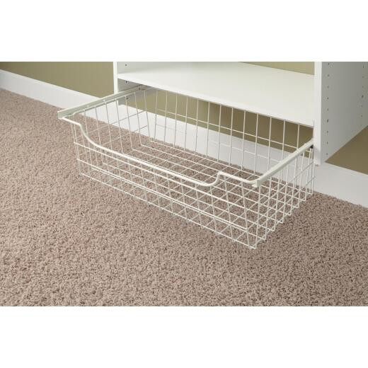 Easy Track 8 In. White Wire Basket