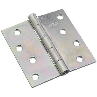 National 4 In. Square Zinc Plated Steel Broad Door Hinge