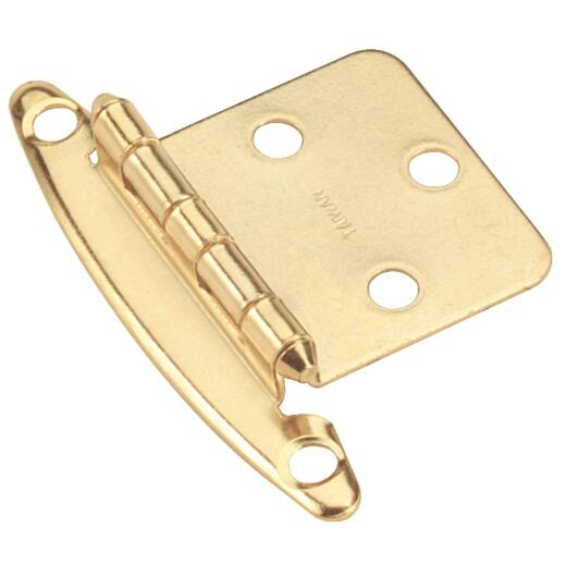 Amerock Bright Brass Non Self-Closing Overlay Hinge (2-Pack)