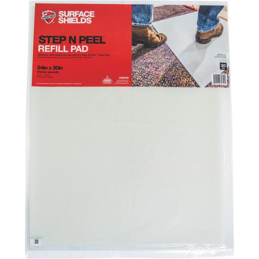 Surface Shields Step N Peel Clean Mat 24 In. x 30 In. Floor Protector Refill Sheets