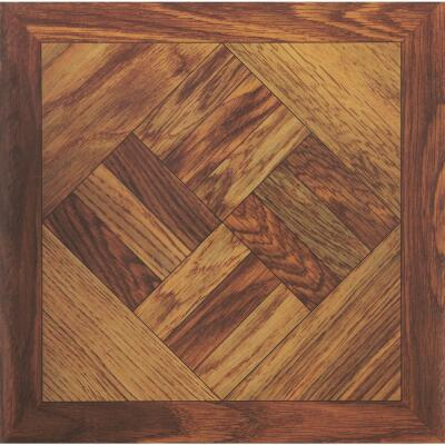 Home Impressions Wood Parquet 12 In. x 12 In. Vinyl Floor Tile (45 Sq. Ft./Box)