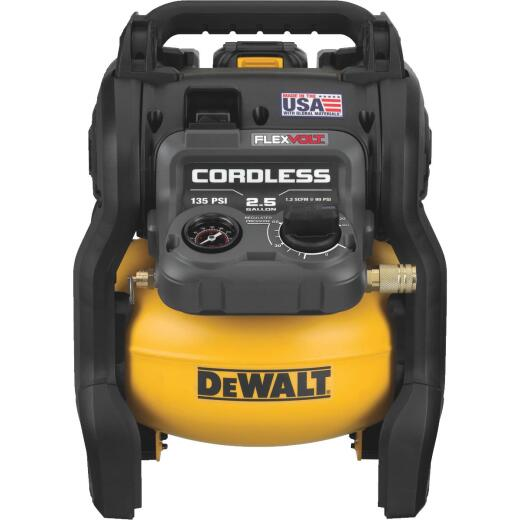 DeWalt Flexvolt 60V MAX Brushless 2.5 Gal. Portable 135 psi Air Compressor