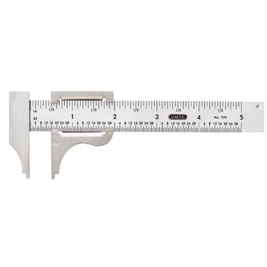 General Tools 5 In. Pocket Caliper