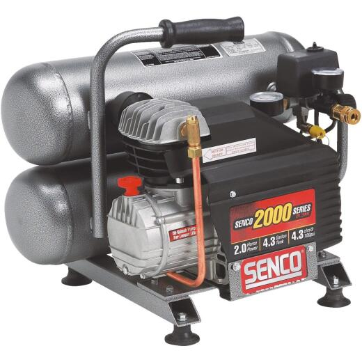 Senco 4.3 Gal. Portable 125 psi Twin-Stack Air Compressor