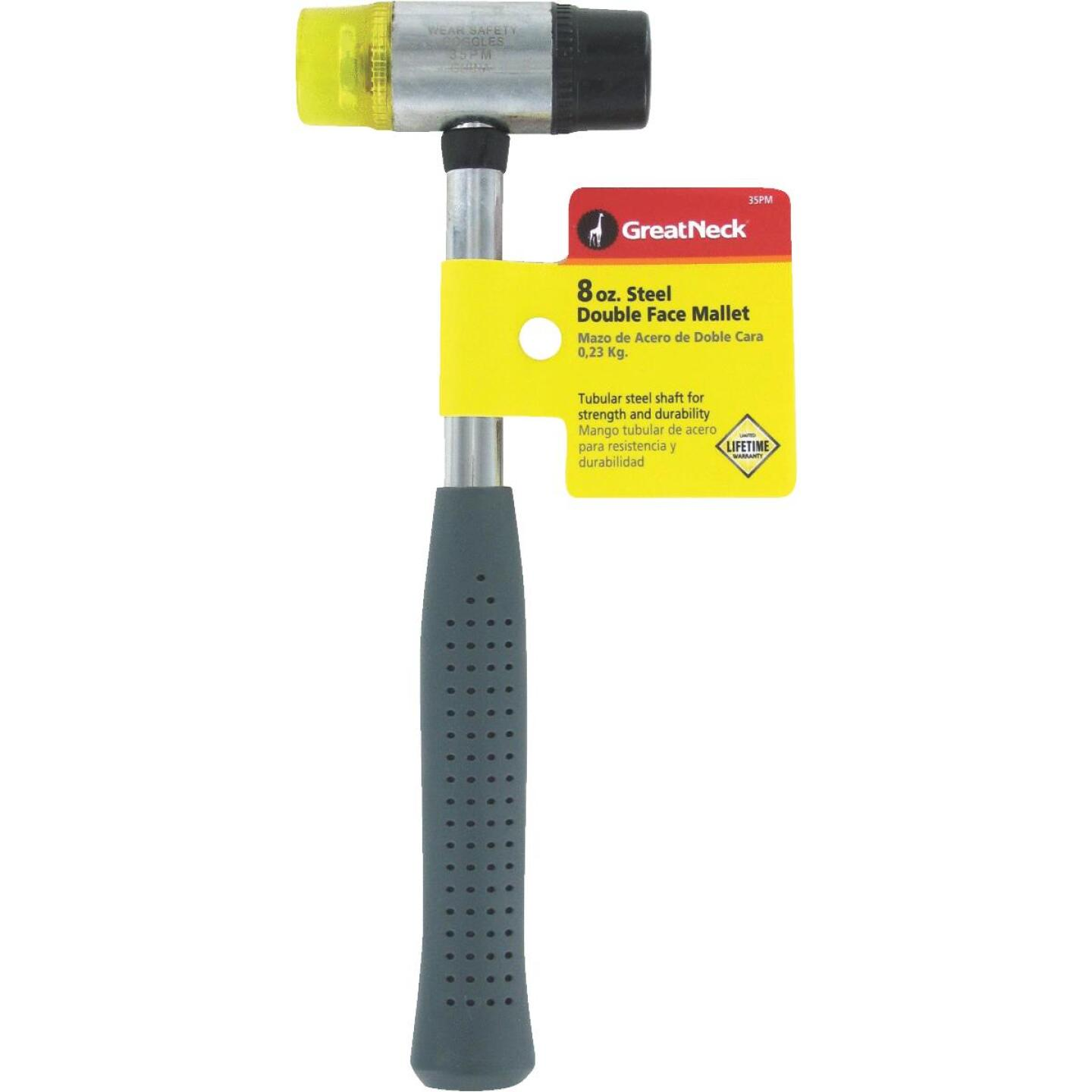 Great Neck 8 Oz. Plastic/Rubber Mallet with Tubular Steel Handle Image 2