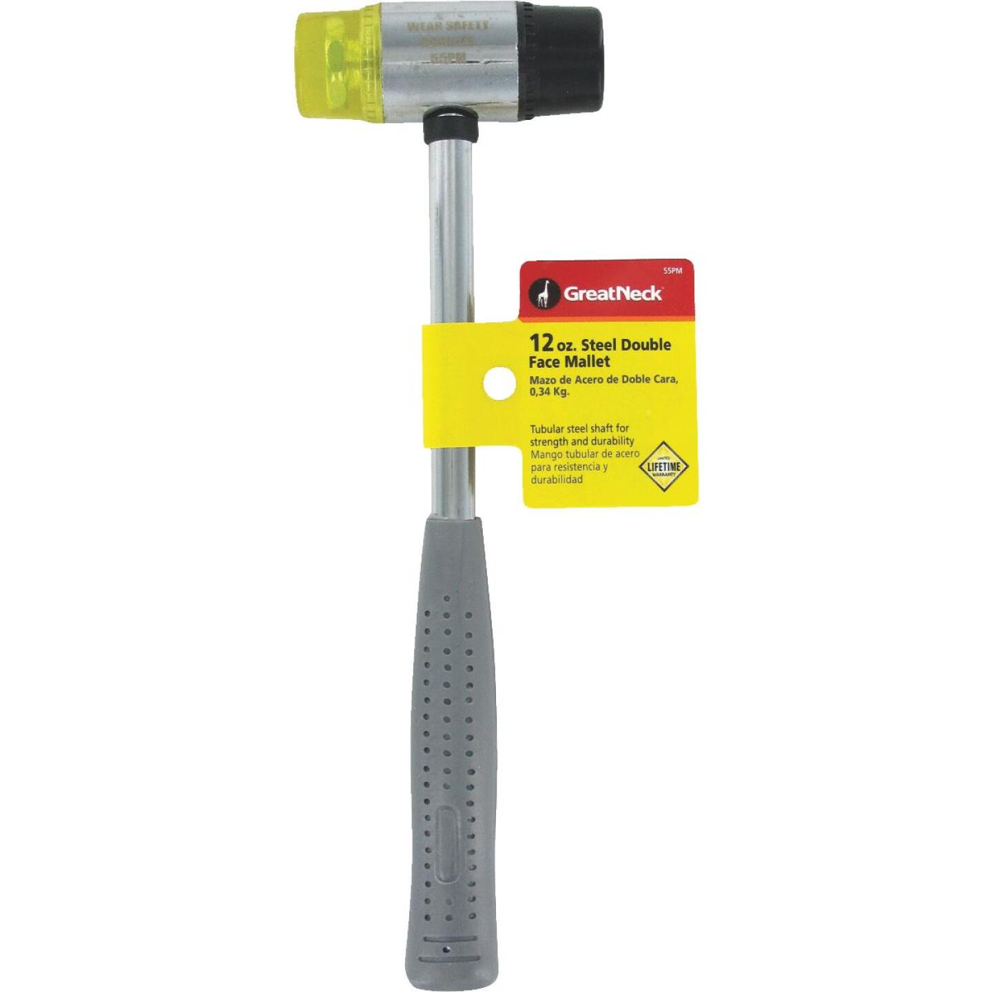 Great Neck 12 Oz. Plastic/Rubber Mallet with Tubular Steel Handle Image 2