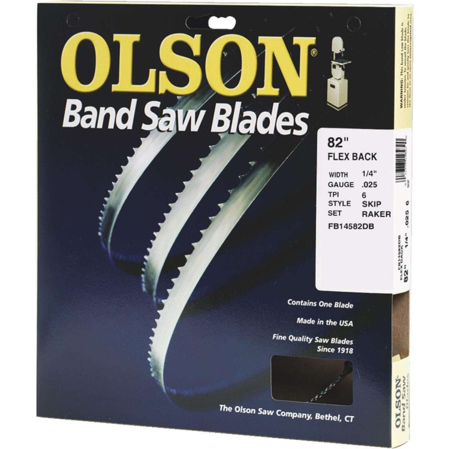 Olson 82 In. x 1/4 In. 6 TPI Skip Flex Back Band Saw Blade Image 1