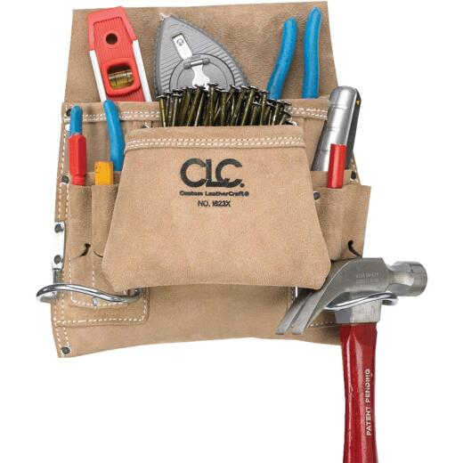 CLC 8-Pocket Suede Leaather Carpenter's Nail & Tool Bag