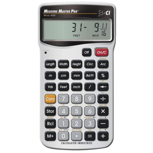 Calculated Industries Measure Master Pro Project Calculator