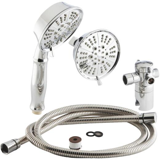 Home Impressions 5-Spray 1.75 GPM Combo Handheld Shower & Showerhead, Chrome