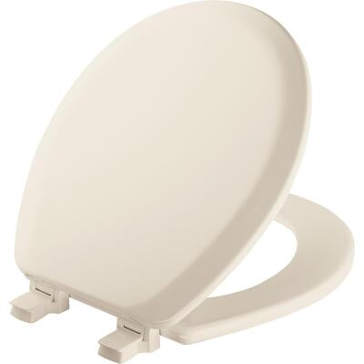 Mayfair Advantage Round Closed Front Biscuit Wood Toilet Seat