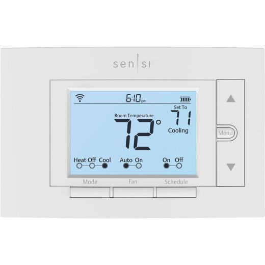 Emerson Sensi Wi-Fi Programmable White Digital Thermostat