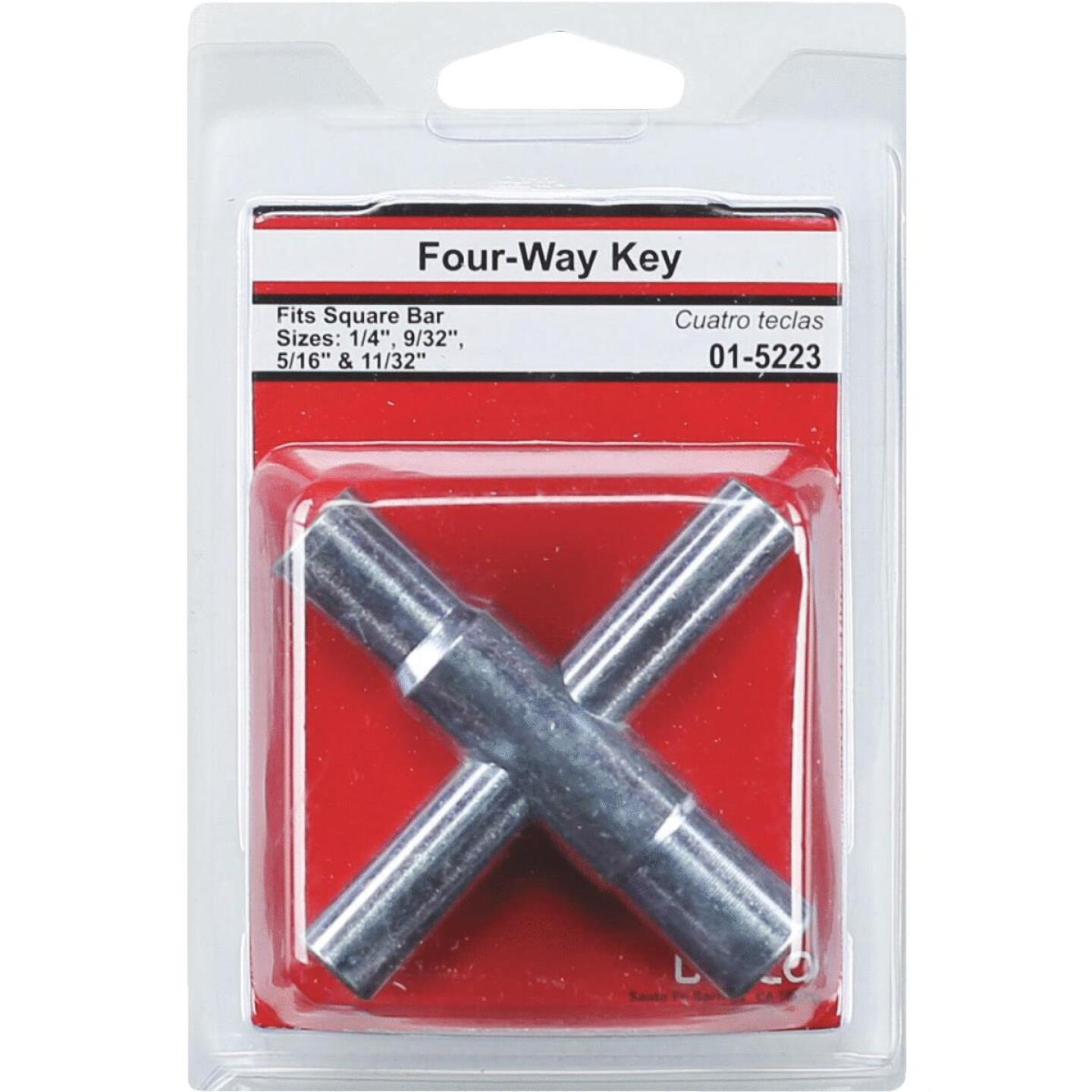 Lasco 4-Way Faucet Key for 1/4, 9/32, 5/16 & 11/32 In. Stems Image 2