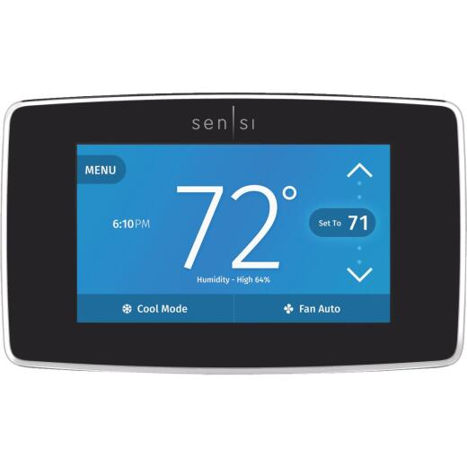 Emerson Sensi Wi-Fi 7-Day Programmable Black Digital Thermostat