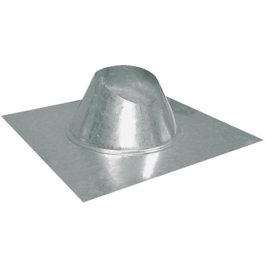 Imperial 7 In. Galvanized Rainproof Roof Pipe Flashing