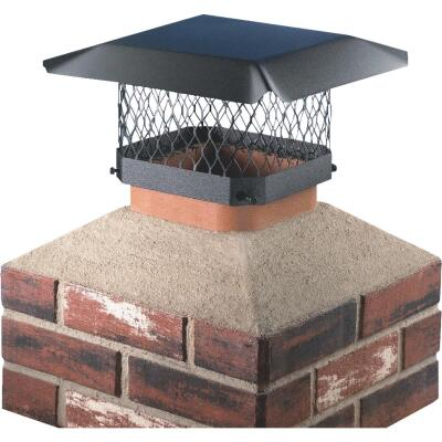 Shelter 9 In. x 13 In. Black Galvanized Steel Chimney Cap