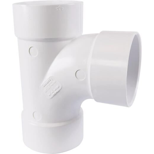 Charlotte Pipe 3 In. Schedule 30 Sanitary PVC Tee