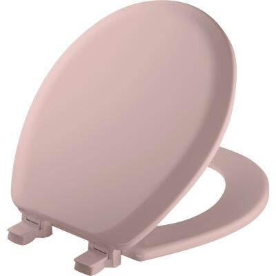 Mayfair Advantage Round Closed Front Pink Wood Toilet Seat