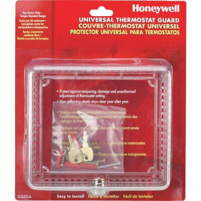 Honeywell Clear 7-1/2 In. 6-1/2 In. Thermostat Guard