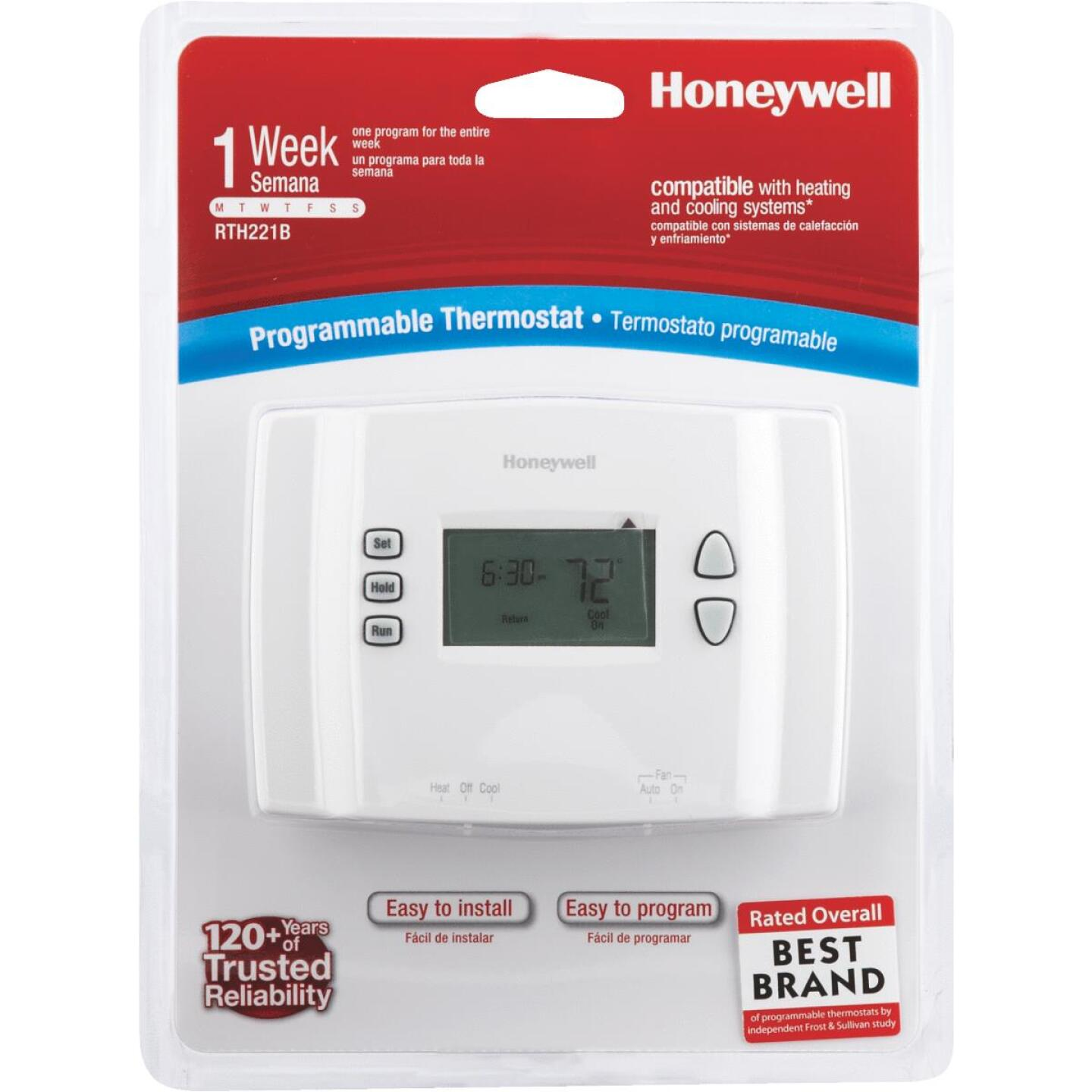 Honeywell 7-Day Programmable Off White Digital Thermostat Image 3