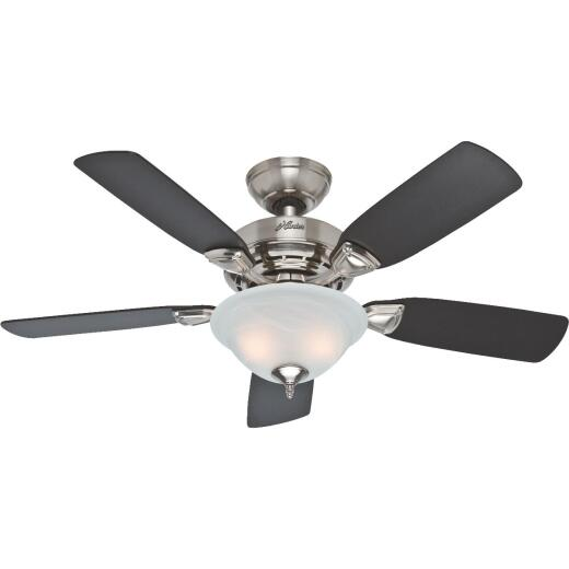 Hunter Caraway 44 In. Brushed Nickel Ceiling Fan with Light Kit