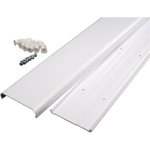 Wiremold CordMate 3-1/2 In. x 48 In. White Channel