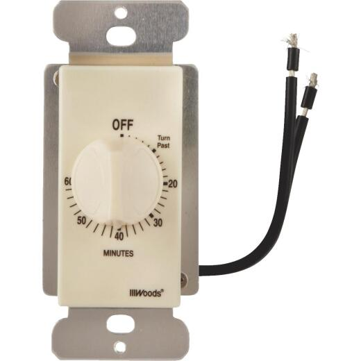 Woods 125V Light Almond Spring Wound Timer