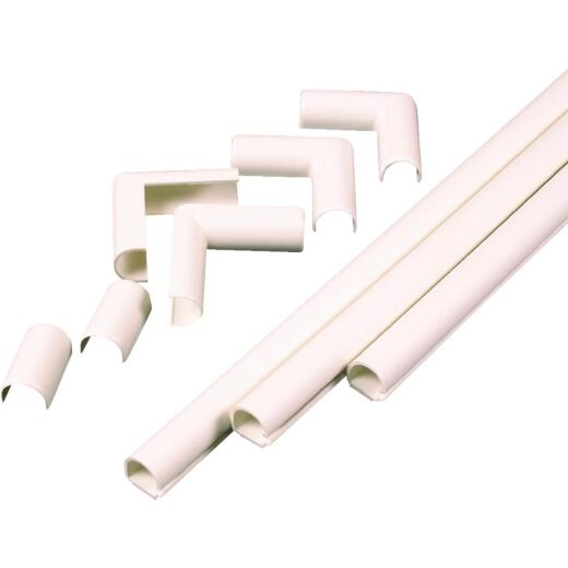 Wiremold CordMate 1-1/2 In. x 3 Ft. Ivory Channel