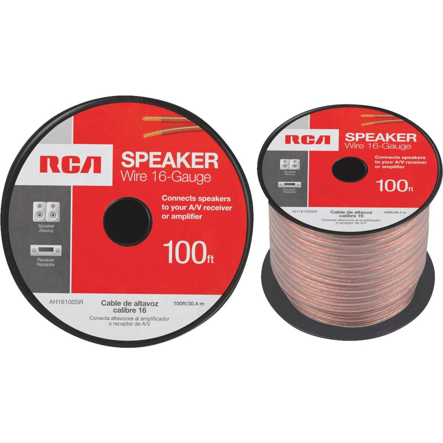 RCA 100 Ft. 16-2 Stranded Speaker Wire Image 1