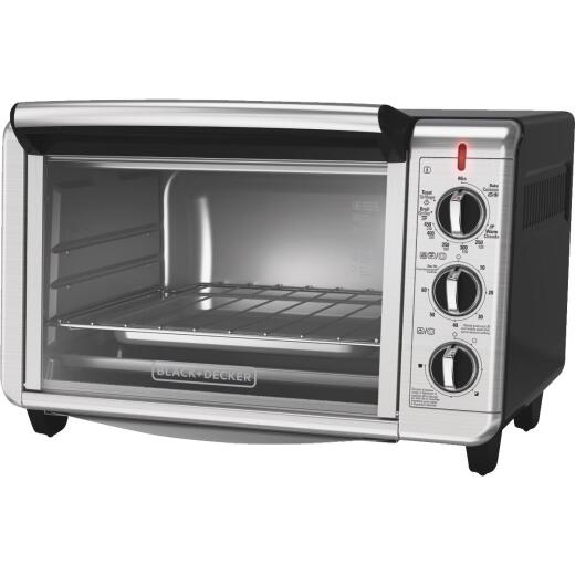 Black & Decker Dining In 6-Slice Stainless Steel Countertop Convection Oven