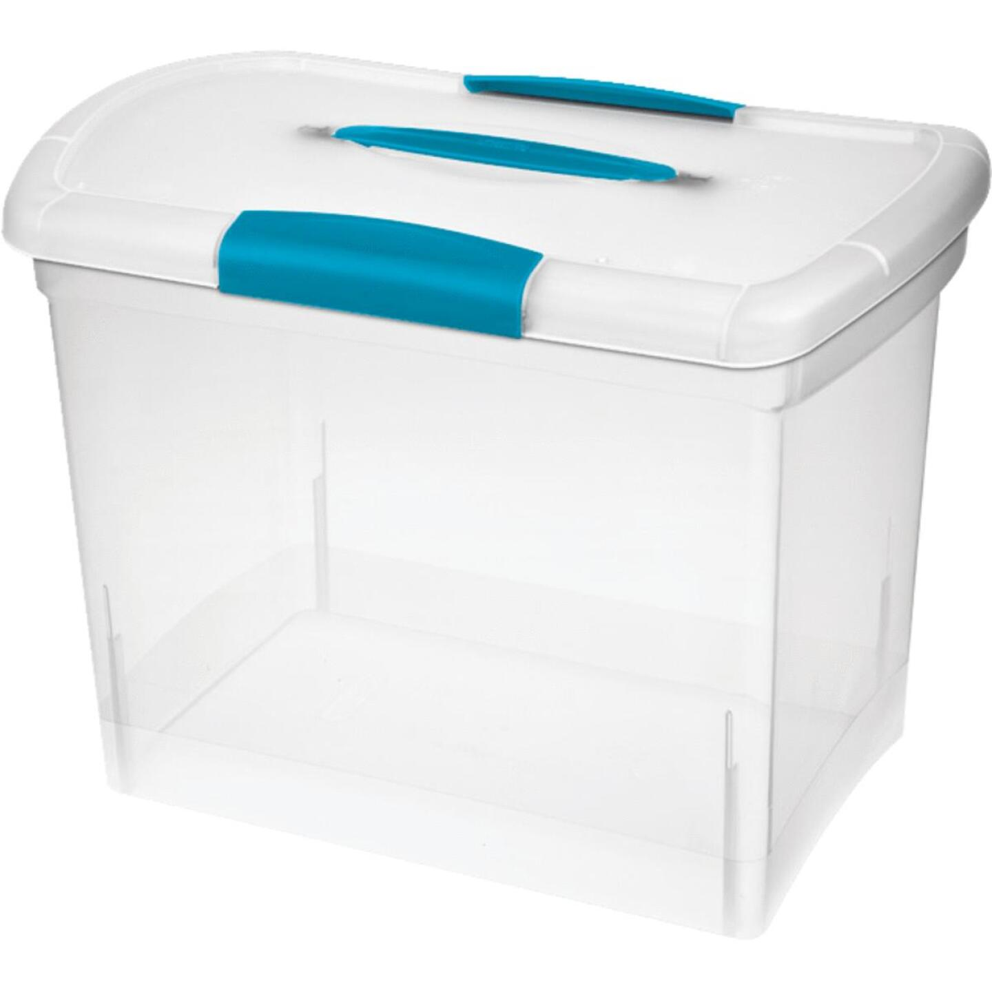 Sterilite ShowOffs 9-1/2 In. x 12-1/4 In. x 14-1/4 In. Clear Storage Tote Image 1