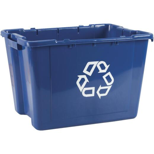 Rubbermaid Commercial 14 Gal. Blue Recycling Box