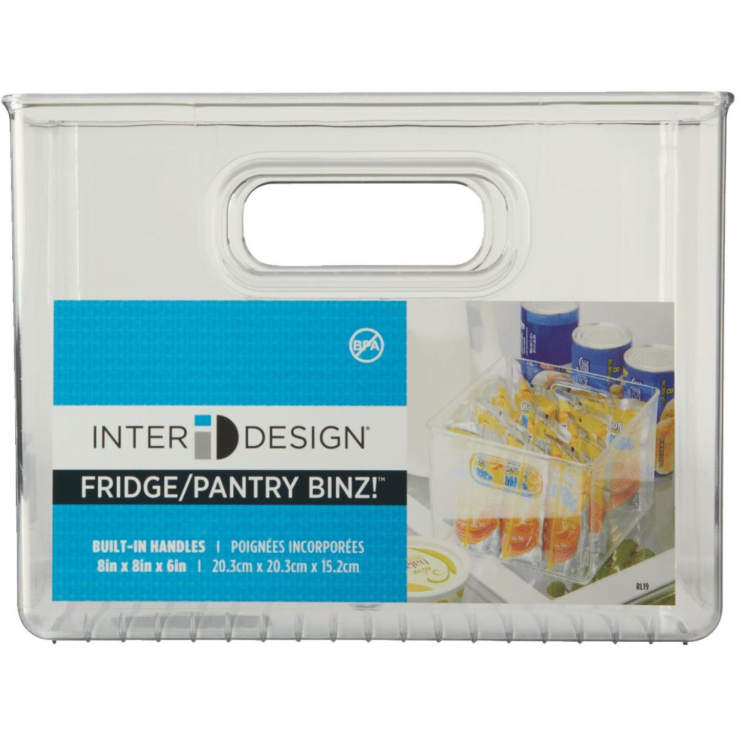 iDesign 8 In. W. x 8 In. D. x 6 In. H. Clear Fridge/Pantry Storage Binz Image 2