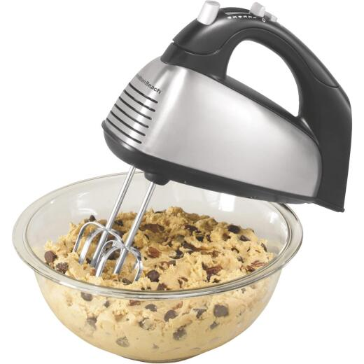 Hamilton Beach 6-Speed Stainless Steel Hand Mixer