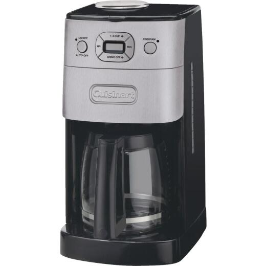Cuisinart Grind & Brew 12 Cup Programmable Black Coffee Maker