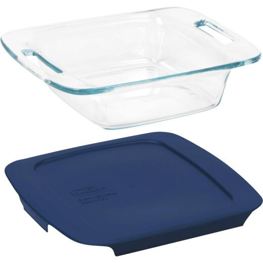 Pyrex Easy Grab 8 In. Square Glass Baking Dish with Lid
