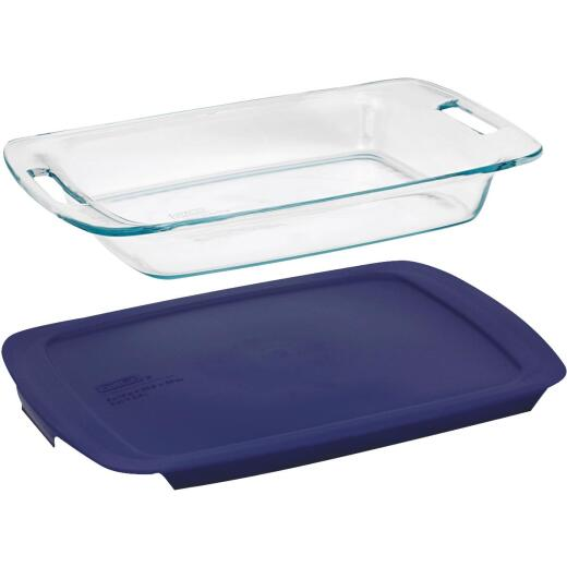 Pyrex Easy Grab 3 Qt. Glass Oblong Baking Dish with Lid