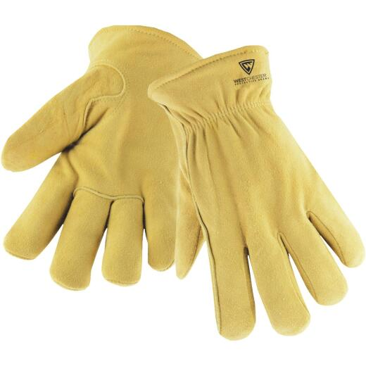 West Chester Men's Medium Deerskin Leather Winter Work Glove