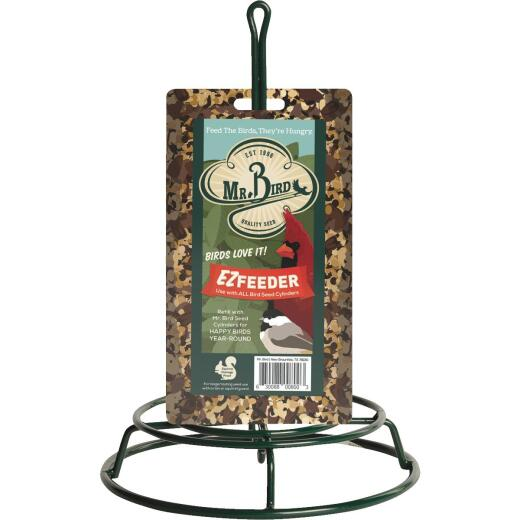 Mr. Bird Green Metal Seed Log Bird Feeder