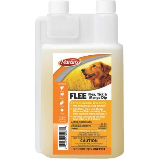Martin's Flee 28-Day 1 Pt. Concentrate Mange, Flea & Tick Treatment Dip For Dogs
