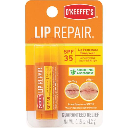 O'Keeffe's SPF 35 Unflavored Lip Balm, 0.15 Oz.