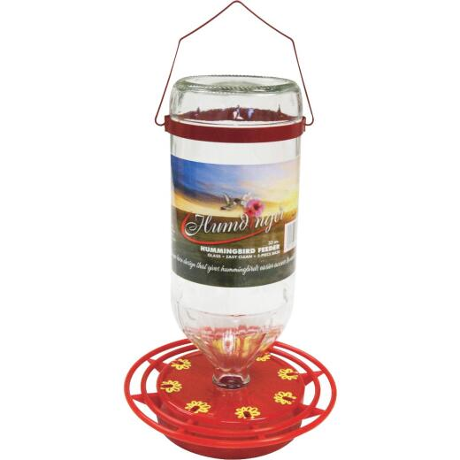 Humdinger 32 Oz. Glass Hummingbird Feeder